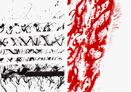 ter Hell · <strong>Turbulence | Chaos</strong> · 2008 · diptych · each 130 x 90 cm · acrylic on canvas