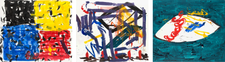 ter Hell · <strong>Hommage à Paul Gaugin</strong> · 2008 · triptych · each 180 x 210 cm · acrylic, spray on canvas