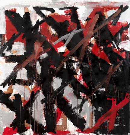 ter Hell · <strong>Formation</strong> · 2010 · 200 x 185 cm · acrylic, spray on canvas