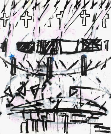 ter Hell · <strong>Change mind</strong> · 2012 · 290 x 240 cm · acrylic, spray on canvas