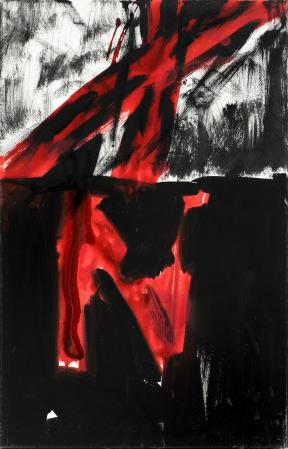 ter Hell · <strong>Violife, Objekt abstrakt</strong> · 2012 · 70 x 45 cm · acrylic, spray on canvas