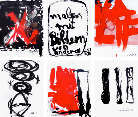ter Hell · untitled (6 paper works) · 2013 · each 65 x 50 cm · acrylic on paper