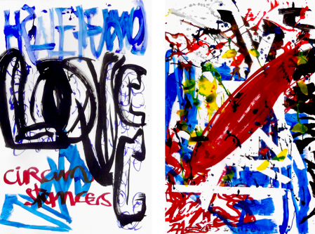 ter Hell · untitled   <strong>Holon</strong> · 2016 · each 100 x 65 cm · acrylic on Bristol board