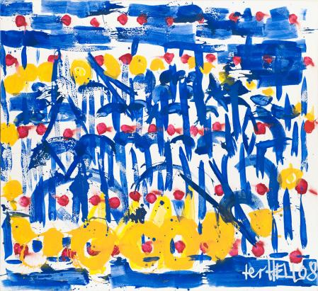 ter Hell · <strong>US Euro</strong> · 2008 · 180 x 200 cm · acrylic, spray on canvas