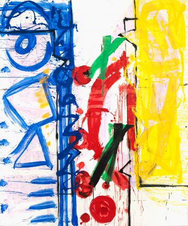 ter Hell · <strong>Change frame</strong> · 2012 · 290 x 240 cm · acrylic, spray on canvas