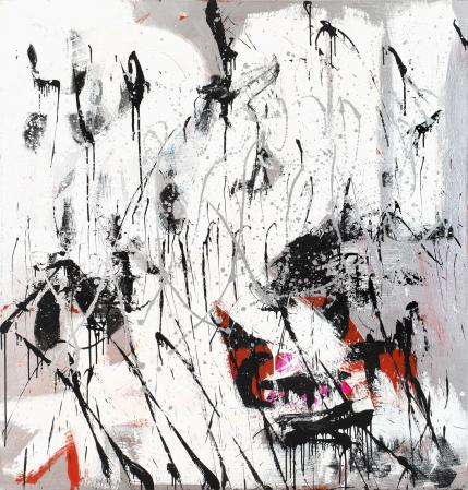 ter Hell · <strong>Holon</strong> · 2010 · 200 x 185 cm · acrylic, spray on canvas