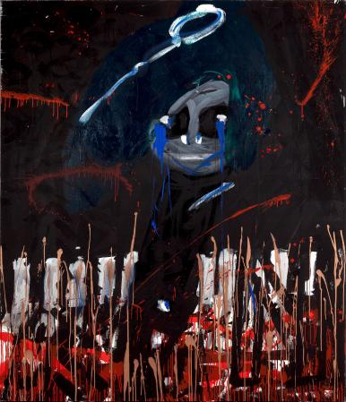 ter Hell · <strong>Nada Pulata</strong> · 2013 · 220 x 160 cm · acrylic on canvas