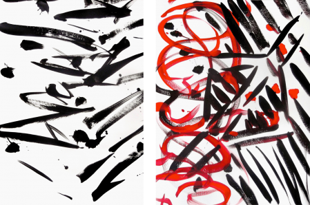 ter Hell · untitled · 2014 · each 90 x 65 cm · acrylic on paper