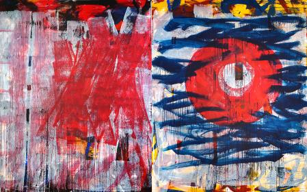 ter Hell · untitled · 2015 · diptych · 250 x 400 cm · aAcrylic on canvas
