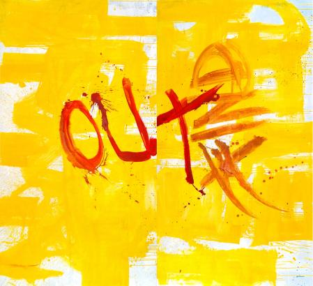 ter Hell · <strong>Look that hashtag</strong> · 2014 · diptych · 240 x 260 cm · acrylic on canvas