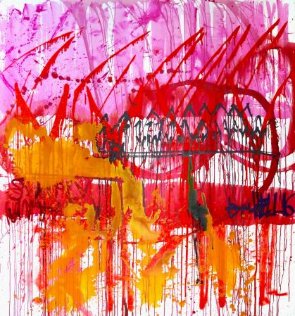 ter Hell · <strong>Simply unhappy</strong> · 2016 · 190 x 170 cm · acrylic on canvas