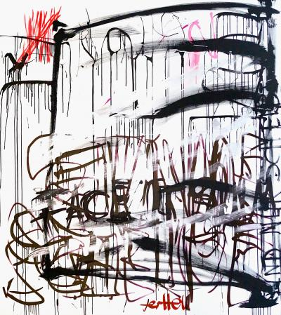 ter Hell · <strong>Facing the slum</strong> · 2016 · 190 x 170 cm · acrylic on canvas