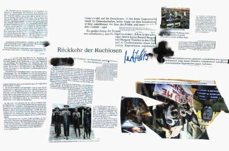 ter Hell · <strong>Rückkehr der Ruchlosen</strong> [Return of the infamous] · from the collage series 'L'article' · SpiegelBox 1 (2011–2013) · 30 x 42 cm
