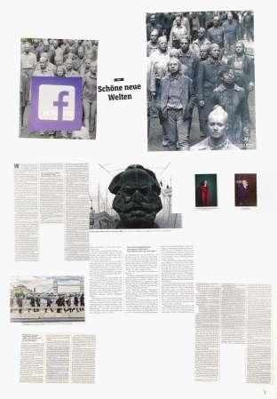 ter Hell · <strong>Schöne neue Welten</strong> [Brave new worlds] · from the collage series 'L'article' · SpiegelBox 4 (2017) · 100 x 70 cm